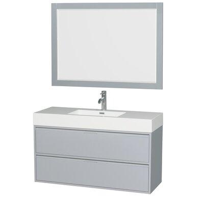 Daniella 47 Single Dove Gray Bathroom Vanity Set with Mirror