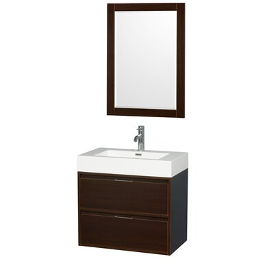 Daniella 29 Single Espresso Bathroom Vanity Set with Mirror