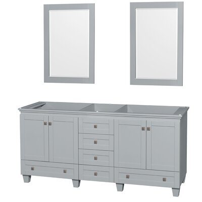 Acclaim 71 Double Bathroom Vanity Base Base Finish: Oyster Gray