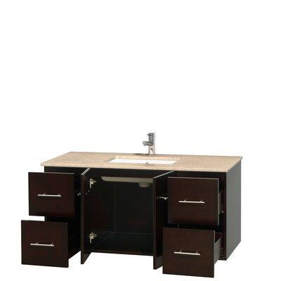 Centra 48 Single Bathroom Vanity Set Base Finish: Espresso, Top Finish: Ivory