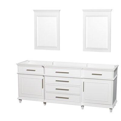 Berkeley 79 Double Bathroom Vanity Base Base Finish: White