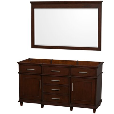 Berkeley 59 Single Bathroom Vanity Base Base Finish: Dark Chestnut