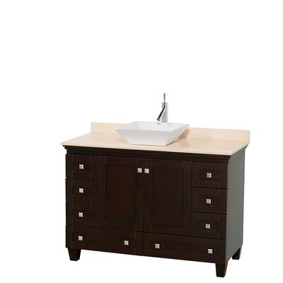 Acclaim 48 Single Bathroom Vanity Set Base Finish: Espresso, Top Finish: Ivory, Basin Finish: White Porcelain