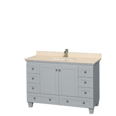 Acclaim 48 Single Bathroom Vanity Set Base Finish: Oyster Gray, Top Finish: Ivory