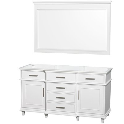 Berkeley 59 Single Bathroom Vanity Base Base Finish: White
