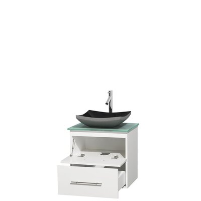 Centra 24 Single Bathroom Vanity Set Base Finish: Matte White