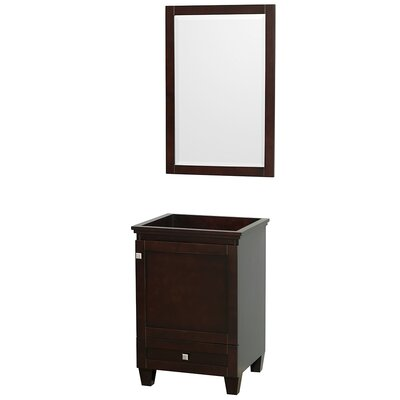 Acclaim 23 Single Bathroom Vanity Base with Mirror Base Finish: Espresso