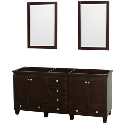 Acclaim 71 Double Bathroom Vanity Base Base Finish: Espresso