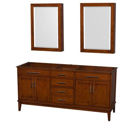 Hatton 70.75 Double Bathroom Vanity Base Base Finish: Light Chestnut