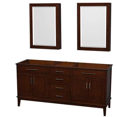 Hatton 70.75 Double Bathroom Vanity Base Base Finish: Dark Chestnut