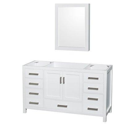 Sheffield 59 Single Bathroom Vanity Base Base Finish: White