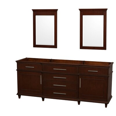 Berkeley 79 Double Bathroom Vanity Base Base Finish: Dark Chestnut
