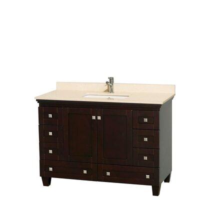 Acclaim 48 Single Bathroom Vanity Set Base Finish: Espresso, Top Finish: Ivory