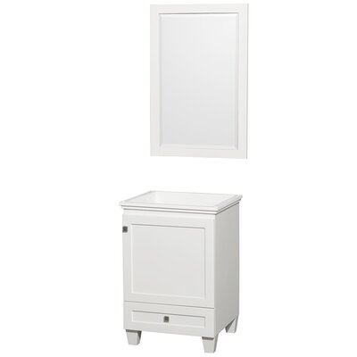 Acclaim 23 Single Bathroom Vanity Base with Mirror Base Finish: White