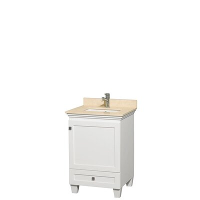 Acclaim 24 Single Bathroom Vanity Set Base Finish: White, Top Finish: Ivory