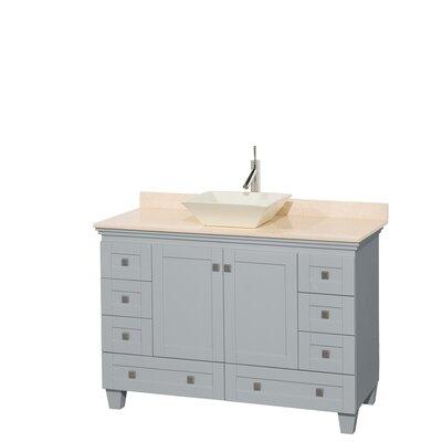 Acclaim 48 Single Bathroom Vanity Set Base Finish: Oyster Gray, Basin Finish: Bone Porcelain, Top Finish: Ivory