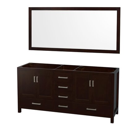 Sheffield 71 Double Bathroom Vanity Base Base Finish: Espresso