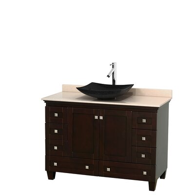 Acclaim 48 Single Bathroom Vanity Set Base Finish: Espresso, Top Finish: Ivory