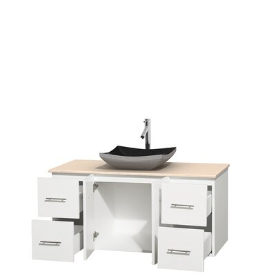 Centra 48 Single Bathroom Vanity Set Base Finish: Matte White, Top Finish: Ivory
