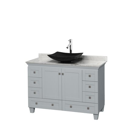 Acclaim 48 Single Bathroom Vanity Set Top Finish: White Carrera, Base Finish: Oyster Gray