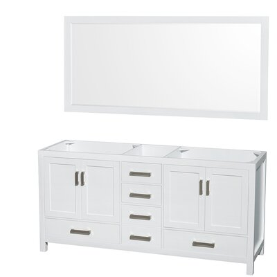 Sheffield 71 Double Bathroom Vanity Base Base Finish: White