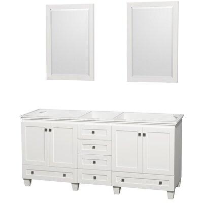 Acclaim 71 Double Bathroom Vanity Base Base Finish: White