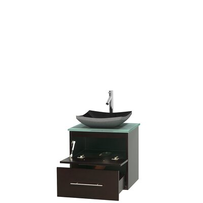 Centra 24 Single Bathroom Vanity Set Base Finish: Espresso