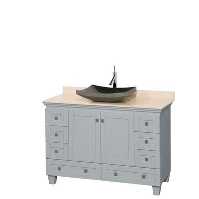 Acclaim 48 Single Bathroom Vanity Set Base Finish: Oyster Gray, Top Finish: Ivory