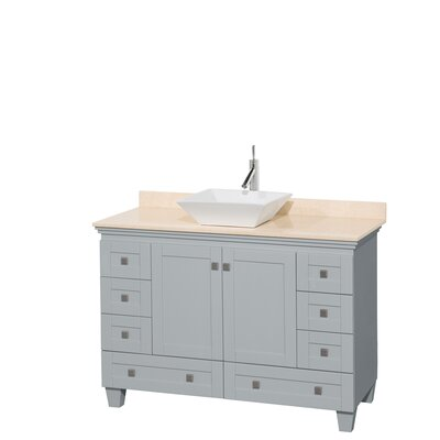 Acclaim 48 Single Bathroom Vanity Set Base Finish: Oyster Gray, Top Finish: Ivory, Basin Finish: White Porcelain
