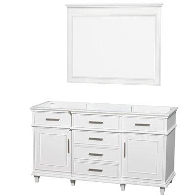 Berkeley 59 Single Bathroom Vanity Base Base Finish: White
