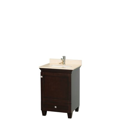 Acclaim 24 Single Bathroom Vanity Set Base Finish: Espresso, Top Finish: Ivory