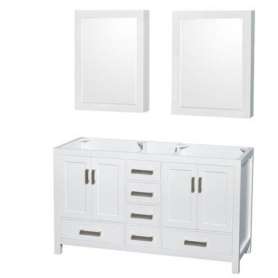 Sheffield 59 Double Bathroom Vanity Base Base Finish: White
