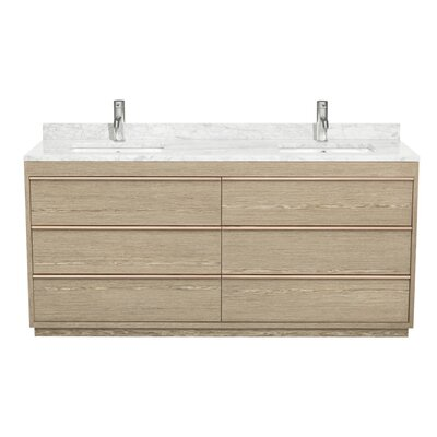 Naya 71 Double Ash Gray Bathroom Vanity Set