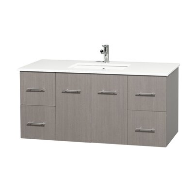 Centra 48 Single Bathroom Vanity Base Finish: Gray Oak