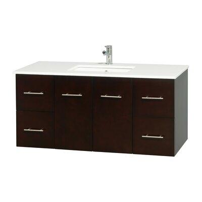 Centra 48 Single Bathroom Vanity Base Finish: Espresso