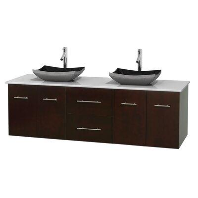 Centra 72 Double Bathroom Vanity Base Finish: Espresso