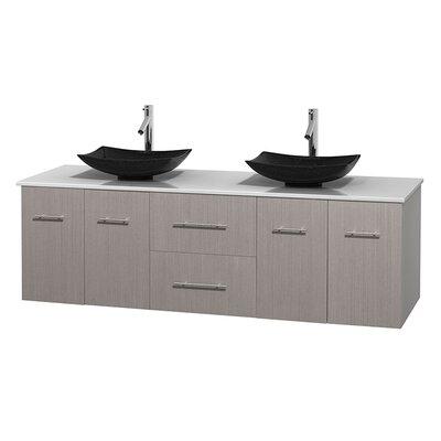 Centra 72 Double Bathroom Vanity Base Finish: Gray Oak