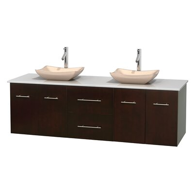 Centra 72 Double Bathroom Vanity Basin Finish: Avalon Ivory, Base Finish: Espresso