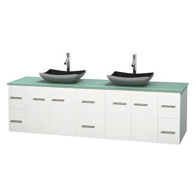 Centra 80 Double Bathroom Vanity Set Base Finish: Matte White