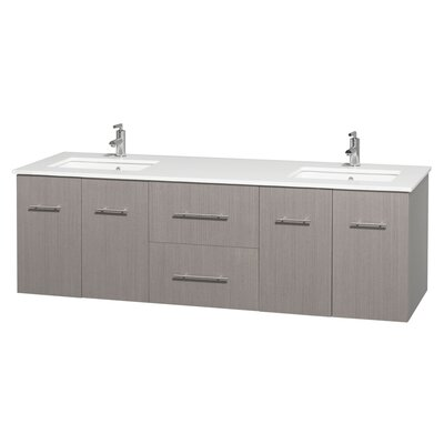 Centra 72 Double Bathroom Vanity Set Base Finish: Gray Oak
