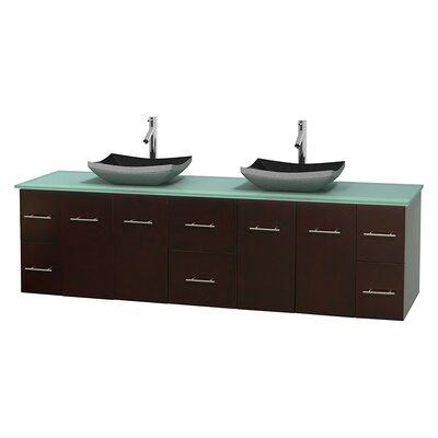 Centra 80 Double Bathroom Vanity Set Base Finish: Espresso