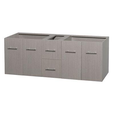 Centra 59 Double Bathroom Vanity Base Base Finish: Gray Oak