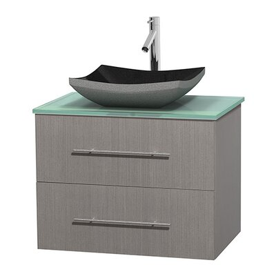 Centra 30 Single Bathroom Vanity Set Base Finish: Gray Oak