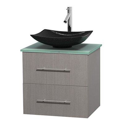 Centra 24 Single Bathroom Vanity Set Base Finish: Gray Oak