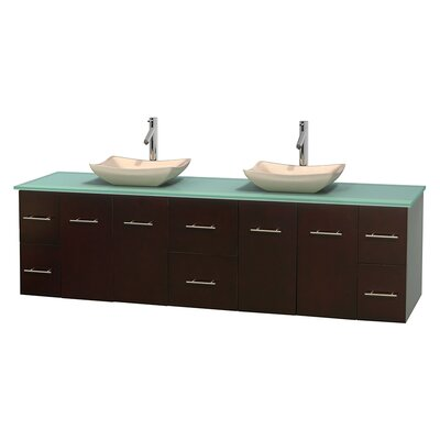 Centra 80 Double Bathroom Vanity Set Base Finish: Matte White, Basin Finish: Avalon Ivory