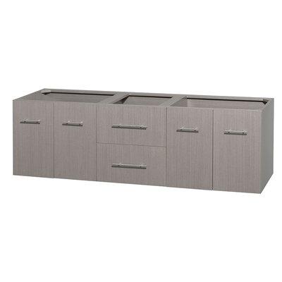 Centra 71 Double Bathroom Vanity Base Base Finish: Gray Oak