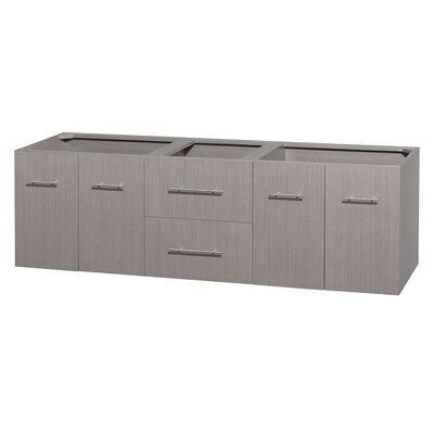 Centra 71 Double Bathroom Vanity Base Base Finish: Gray Oak