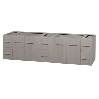 Centra 79 Double Bathroom Vanity Base Base Finish: Gray Oak