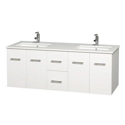Centra 60 Double Bathroom Vanity Set Base Finish: Matte White