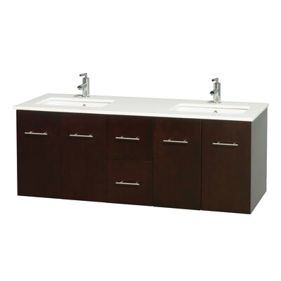 Centra 60 Double Bathroom Vanity Set Base Finish: Espresso